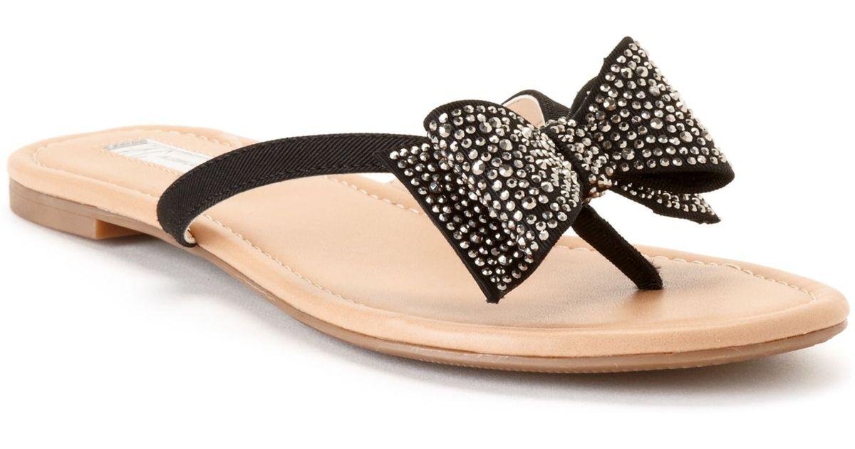 9f68cc4978d8c Lyst - INC International Concepts Womens Maey Bow Thong Sandals in Black