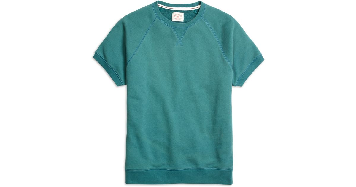 Brooks brothers Short-sleeve Crewneck Sweatshirt in Green for Men ...