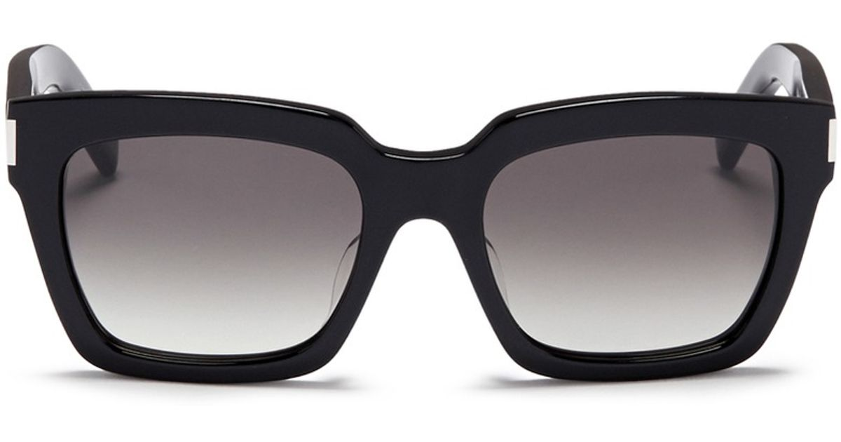63ccaf94c6 Lyst - Saint Laurent  bold 1  Acetate Square Sunglasses in Black