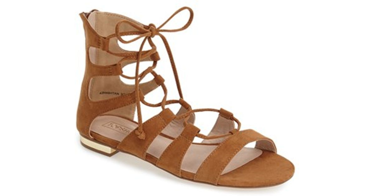 c60dad530b65 Lyst - TOPSHOP Lace-up Gladiator Sandal in Brown