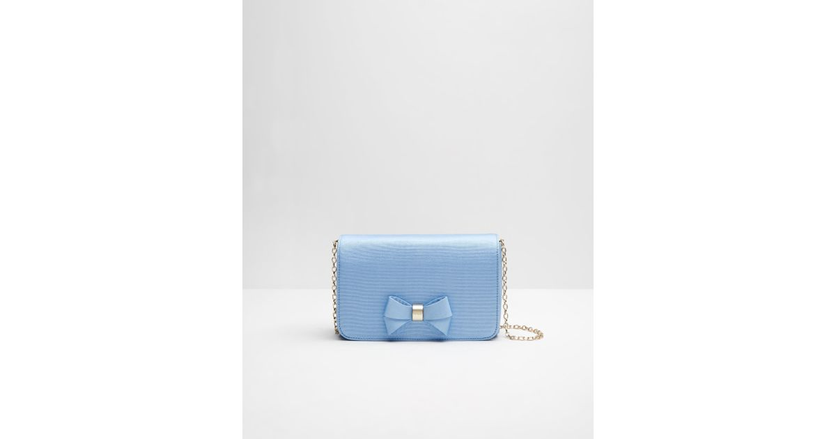 8544acb76de29 Ted Baker Bow Detail Clutch Bag in Blue - Lyst