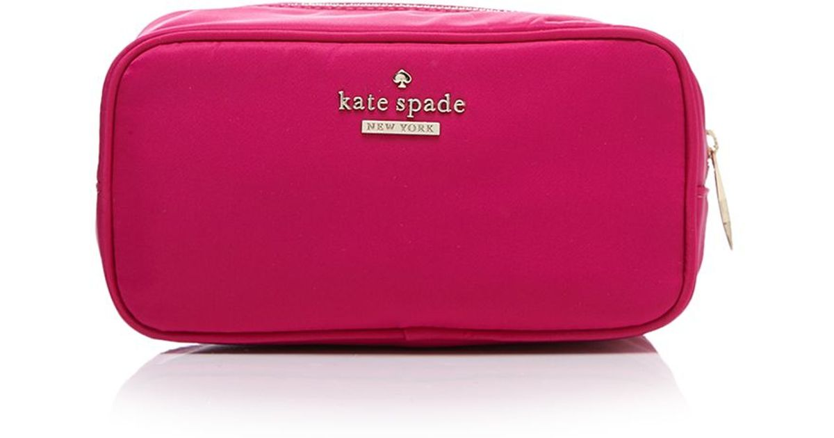 21352736f036 kate spade new york - Pink Cosmetic Case - Classic Nylon Ezra - Lyst