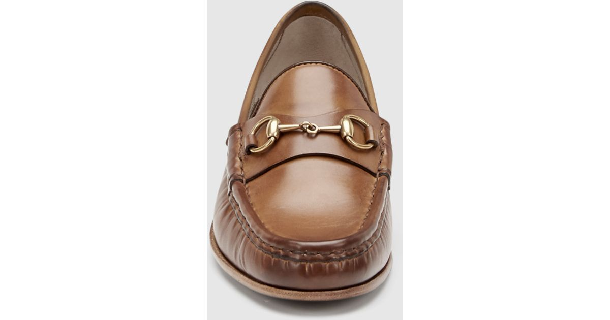 32bcceec708 Lyst - Gucci 1953 Horsebit Loafer In Leather in Brown