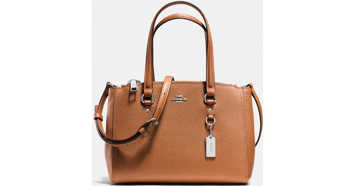Lyst - COACH Stanton Carryall 26 In Crossgrain Leather in Brown 7d3f6ae4b4948