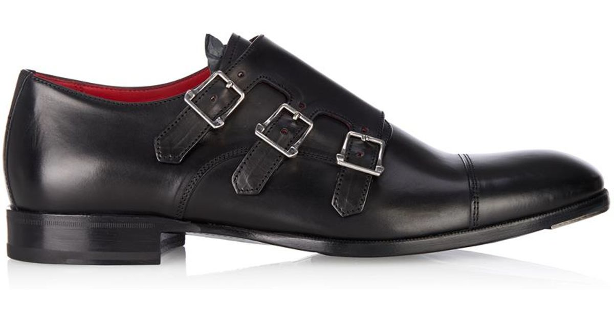 Alexander McQueenThree strap monk shoes fZCQK