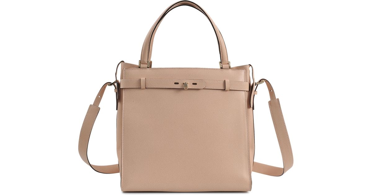 cd6f835e0e9 Lyst - Valextra Large B-cube Bag in Natural