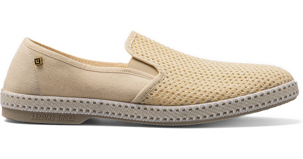 rivieras classic shoe in beige for lyst