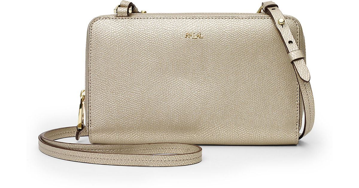 53345c6f9695 ... where can i buy lyst ralph lauren whitby leather cross body bag in  metallic cf949 b0d79 ...