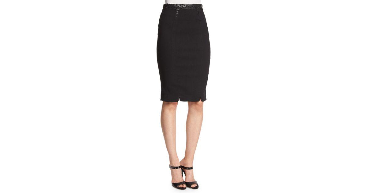 c6e349a46a Zac Zac Posen Structured Pencil Skirt in Black - Lyst