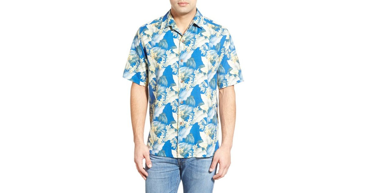 Tommy Bahama 39 Byron Blooms 39 Regular Fit Short Sleeve Silk