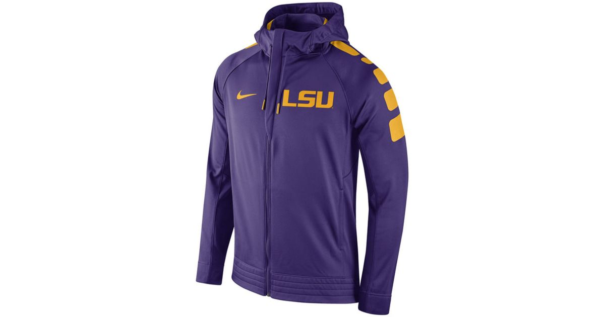 054a93f1611f Lyst - Nike Men s Lsu Tigers Elite Stripe Basketball Performance Full-zip  Hoodie in Purple for Men