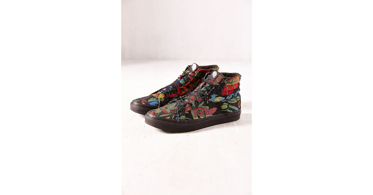 3ed8c8caef Lyst - Vans Floral Tapestry Sk8hi Slim Sneaker