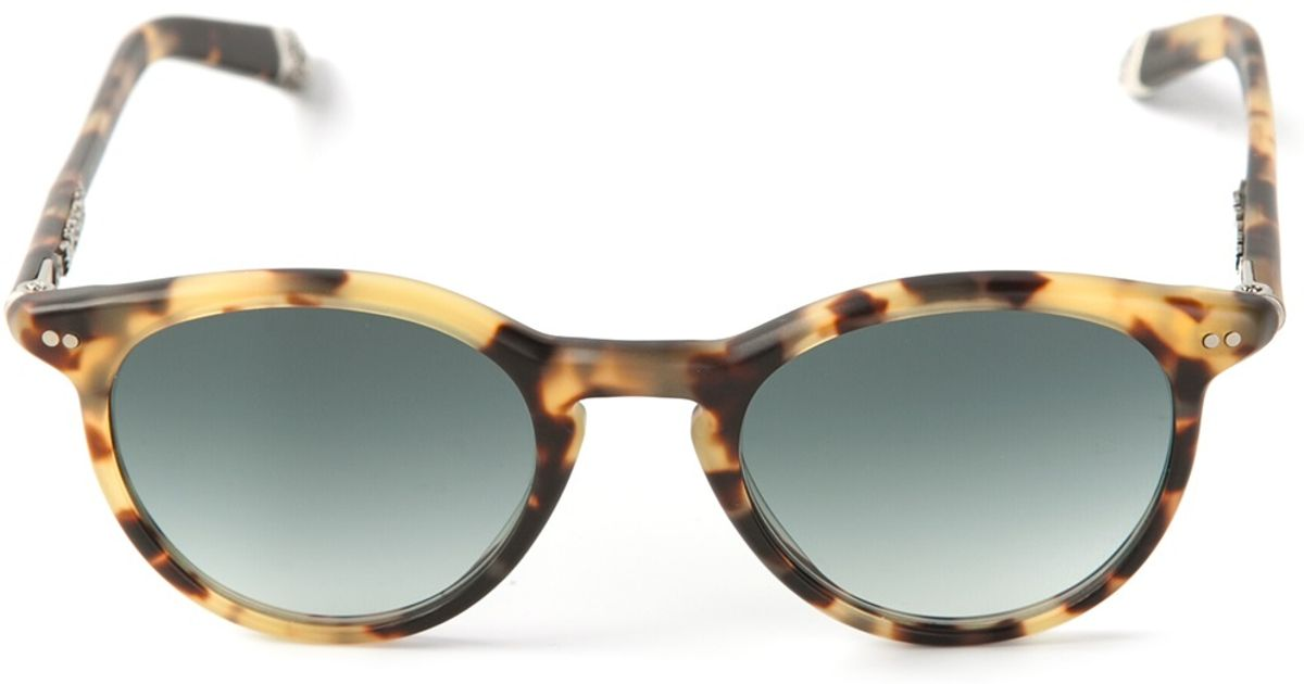 Lyst - Chrome Hearts Curved Frame Sunglasses in Natural