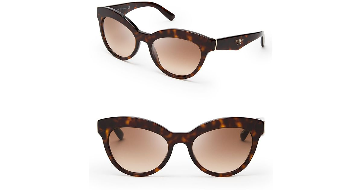 a989f2bf7cc ... france lyst prada heritage cat eye sunglasses in brown 6c12d c2f0e