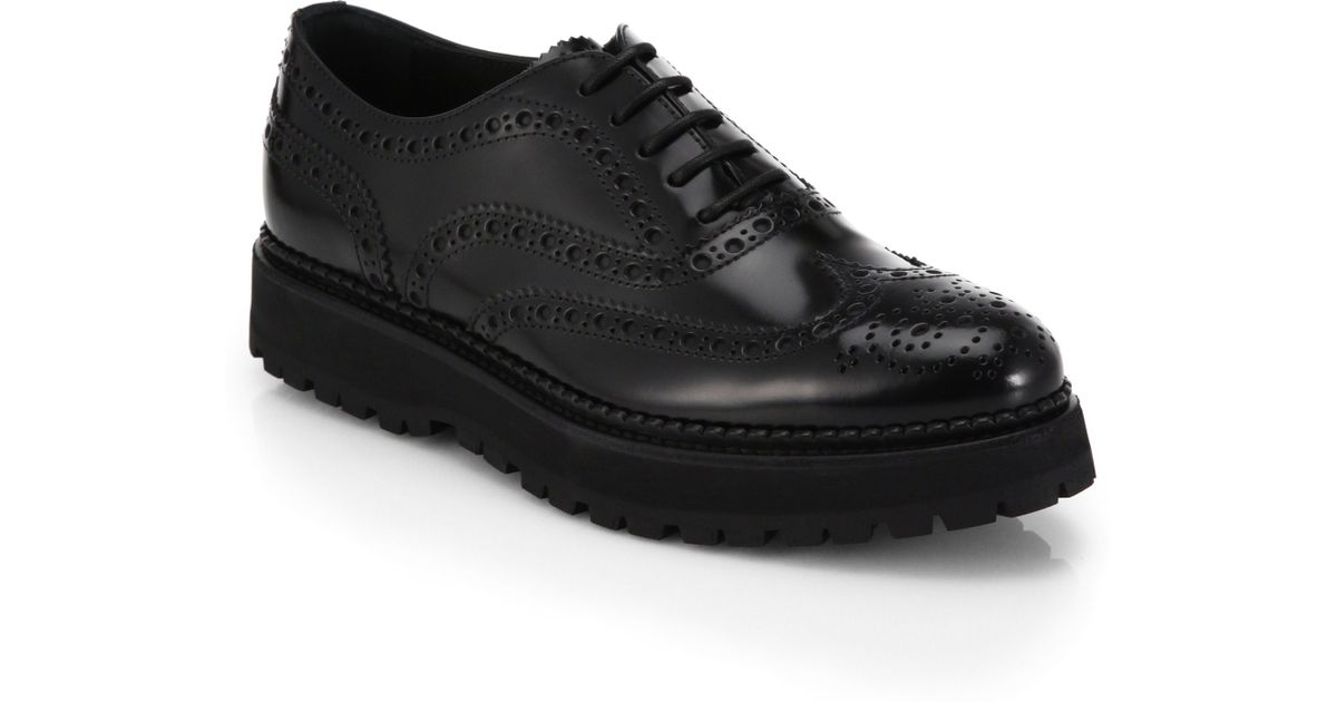 Lyst - Church s Lace-up Leather Platform Oxfords in Black for Men 1346b9aaa