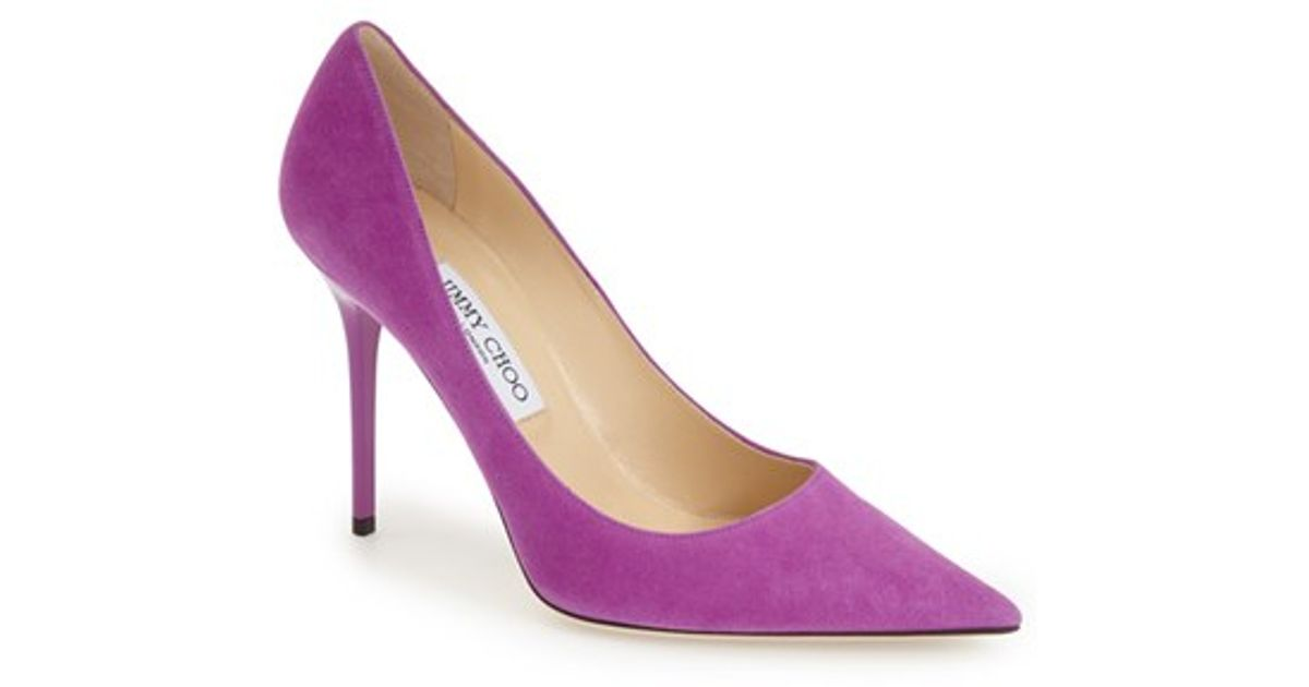 2dfeffb5880 Lyst - Jimmy Choo  abel  Pump in Purple