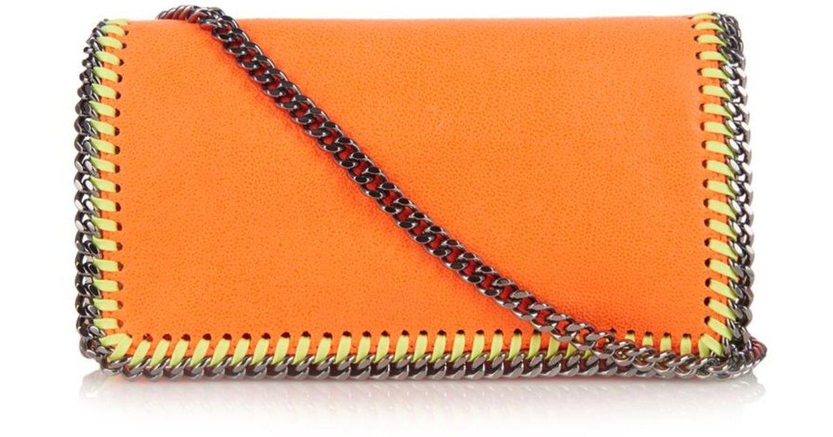 Falabella clutch - Yellow & Orange Stella McCartney LjgYdPVKN