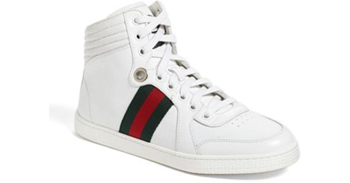 be750422c1e Gucci  coda  High Top Sneaker in White - Lyst