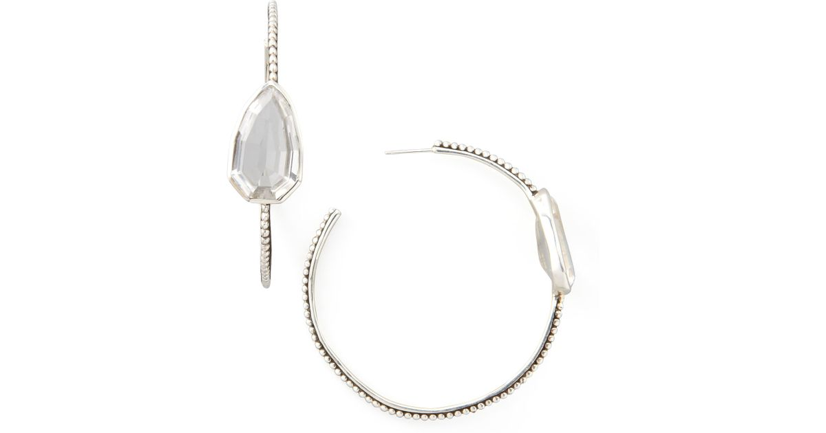 a5e1f986b Lyst - Stephen Dweck Cathedral Large Silver Hoop Earrings in Metallic