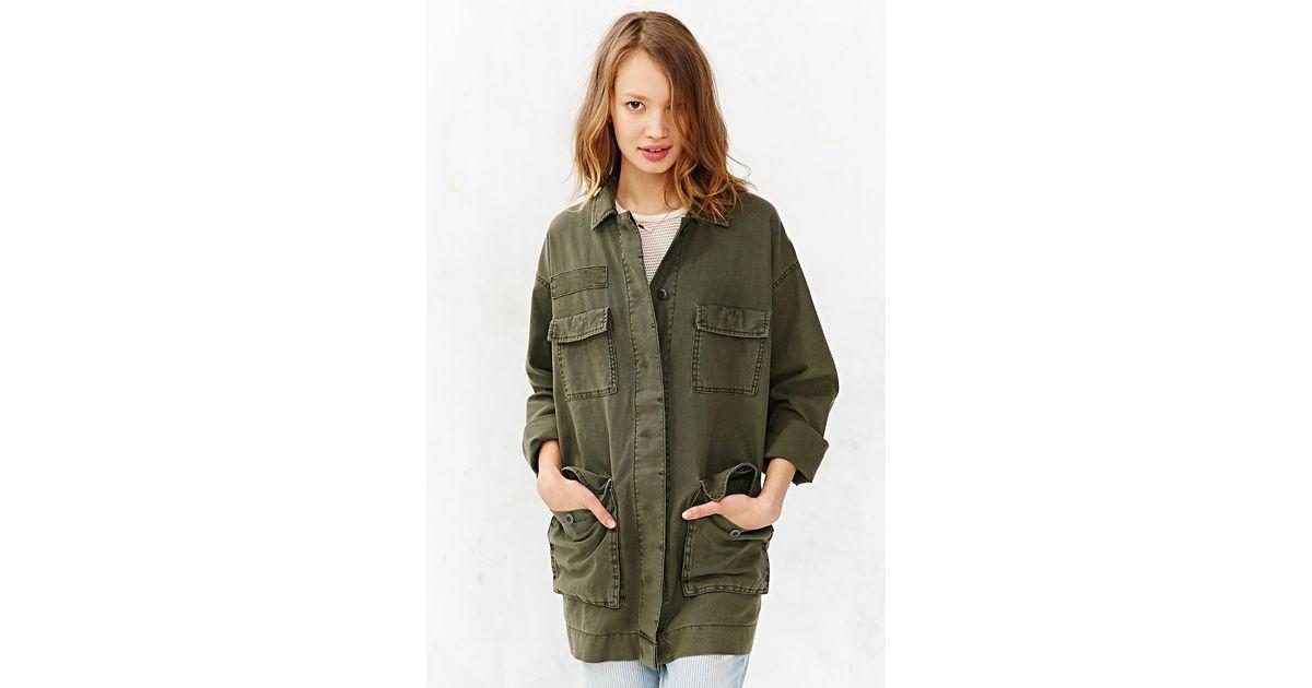 Bdg Outback Linen Surplus Jacket in Green | Lyst