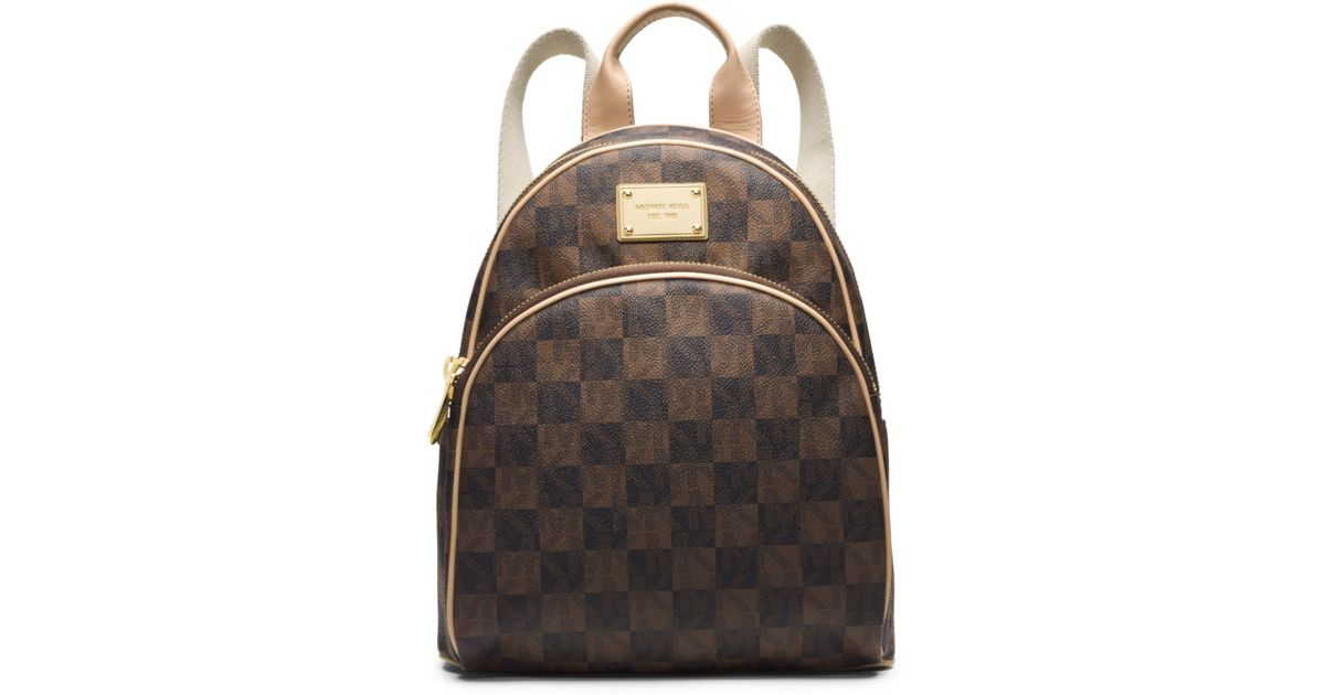 f8714f2fbf5669 Michael Kors Jet Set Travel Checkerboard Small Backpack - Lyst