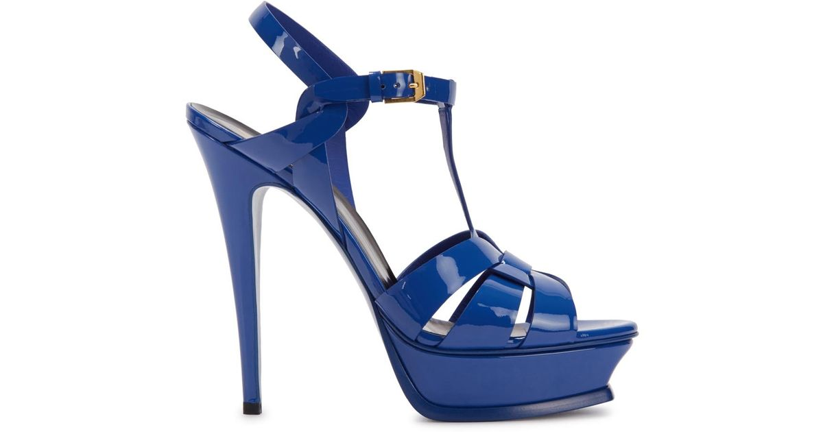 Sandales En Cuir Verni Bleu 22kao0D1