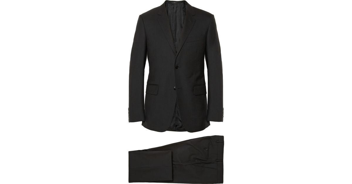 eff902c49 Gucci Black Brera Slimfit Wool Suit in Black for Men - Lyst