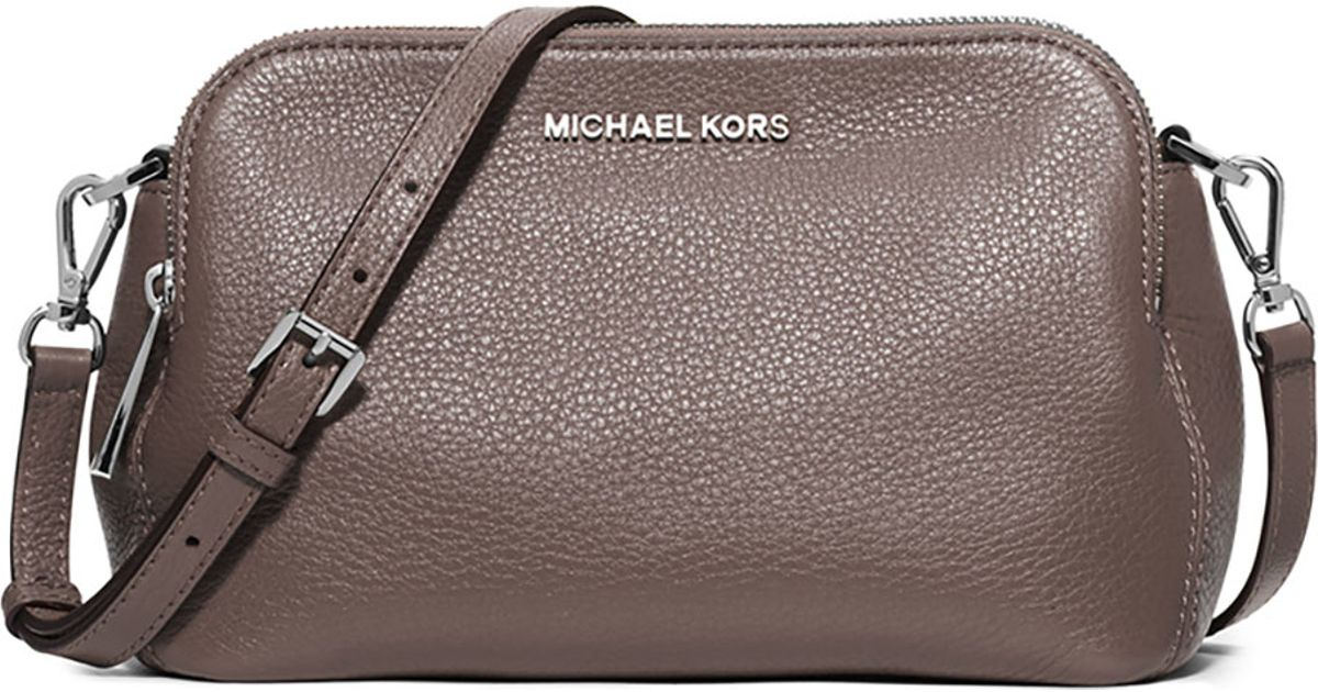 a548b82931b2 ... new zealand lyst michael michael kors bedford medium double zip  messenger bag in brown c0253 c9429