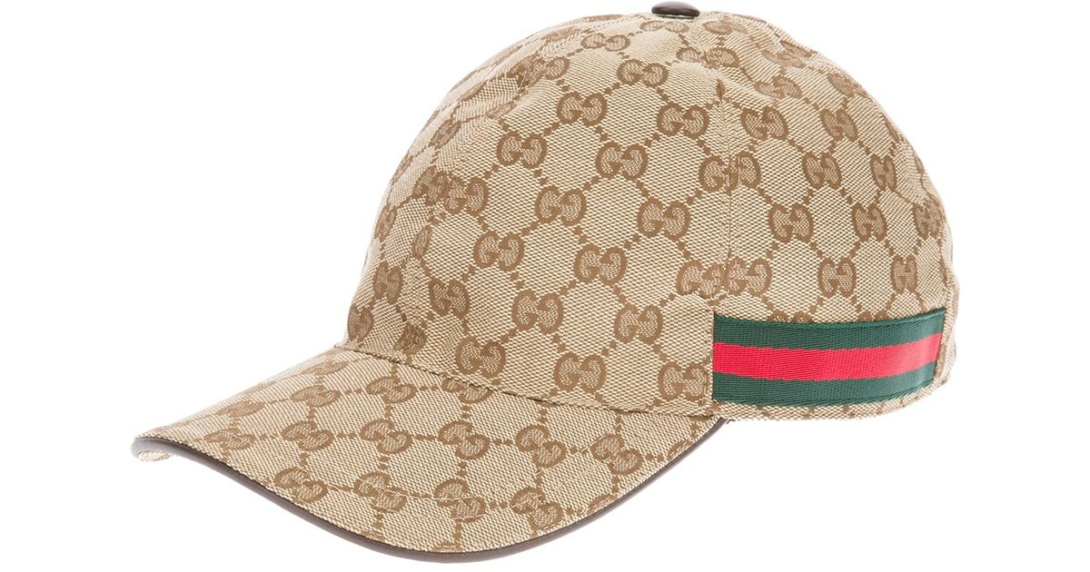 8629e4a957860 Gucci Unisex Emblem Print Cap in Natural for Men - Lyst