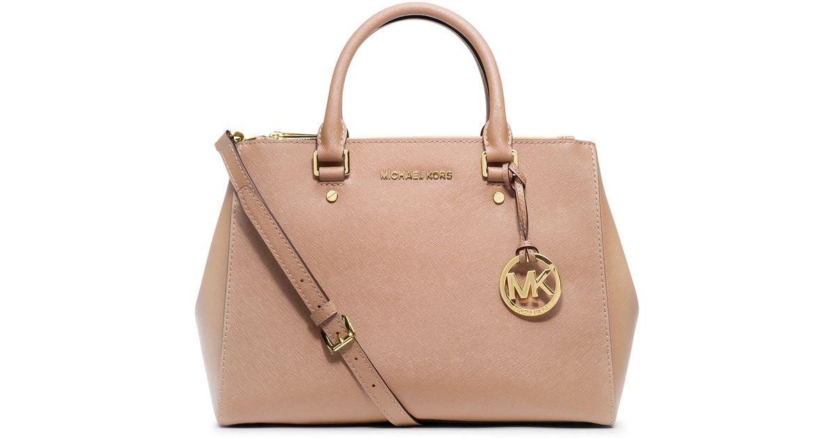 MICHAEL Michael Kors - Pink Sutton Medium Satchel Bag - Lyst 180c14e9c7f4f