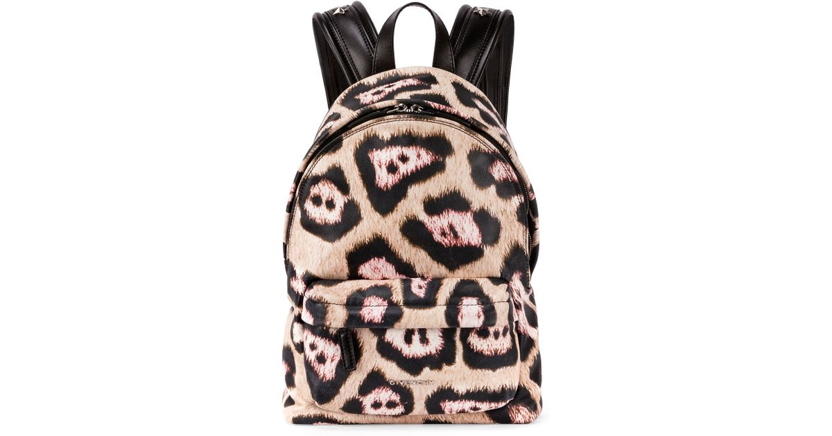 5ff95e604edb Givenchy Antigona Leopard-print Backpack - Lyst