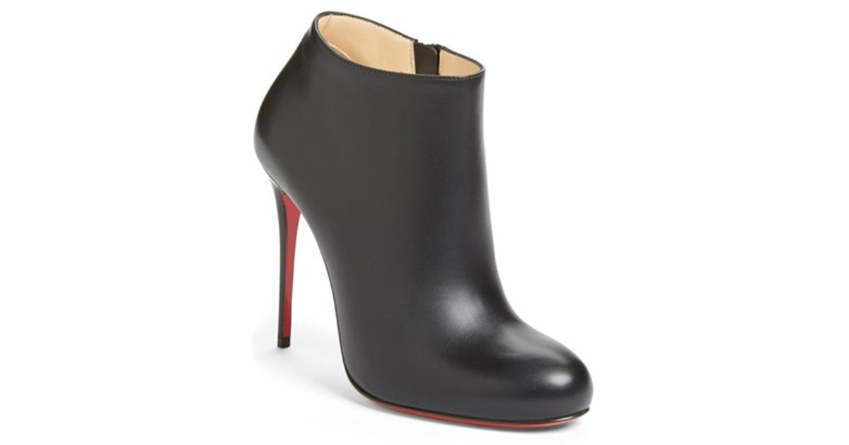 christian louboutin round-toe mesh booties