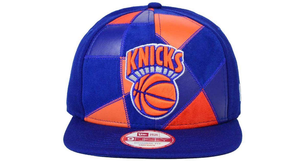 buy online 5a671 fd818 ... amazon lyst ktz new york knicks hwc cut paste 9fifty snapback cap in  orange for men