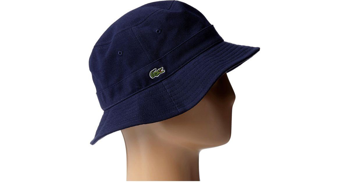 18815f614f Lacoste Bucket Cap in Blue for Men - Lyst
