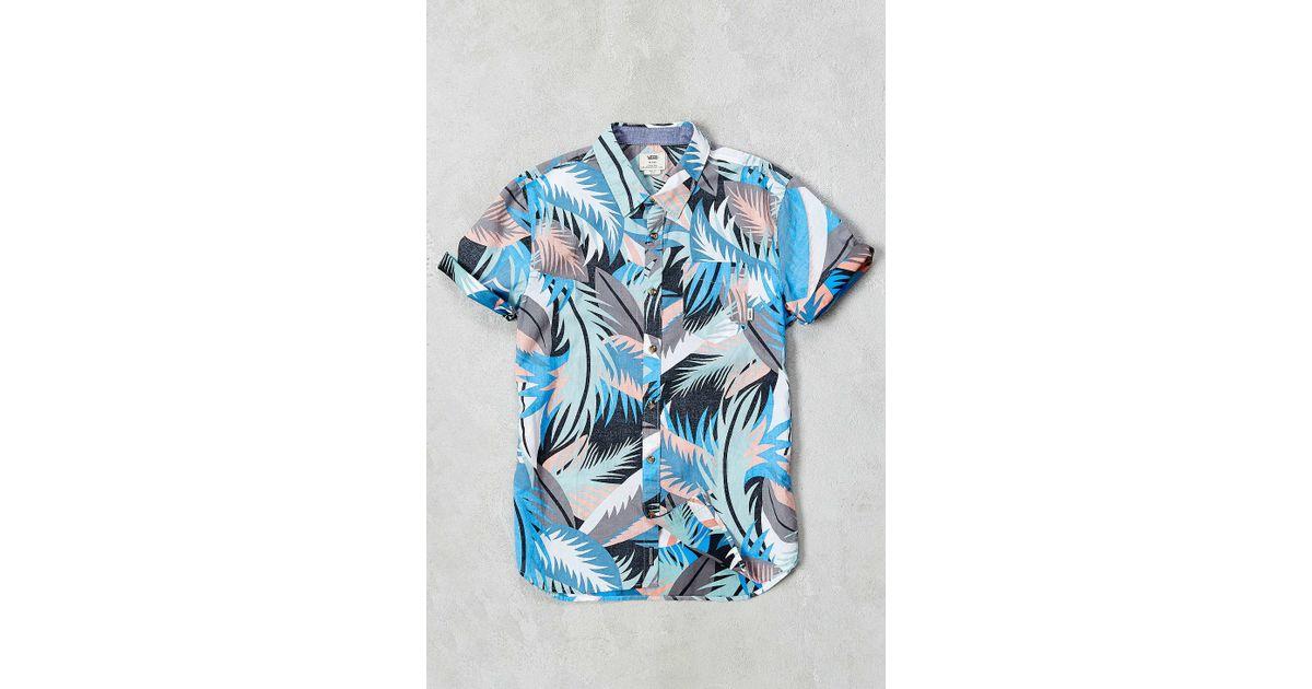bf34bf4eec5 Lyst - Vans Shirt in Blue for Men