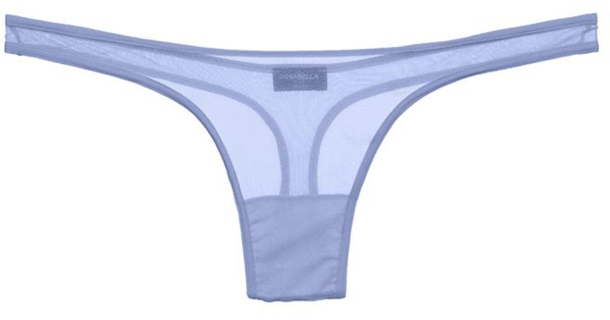 cosabella new soire classic sheer lowrider thong in blue purple sky lyst