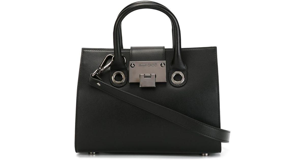 1623c25a867 Lyst - Jimmy Choo Mini  riley  Tote in Black