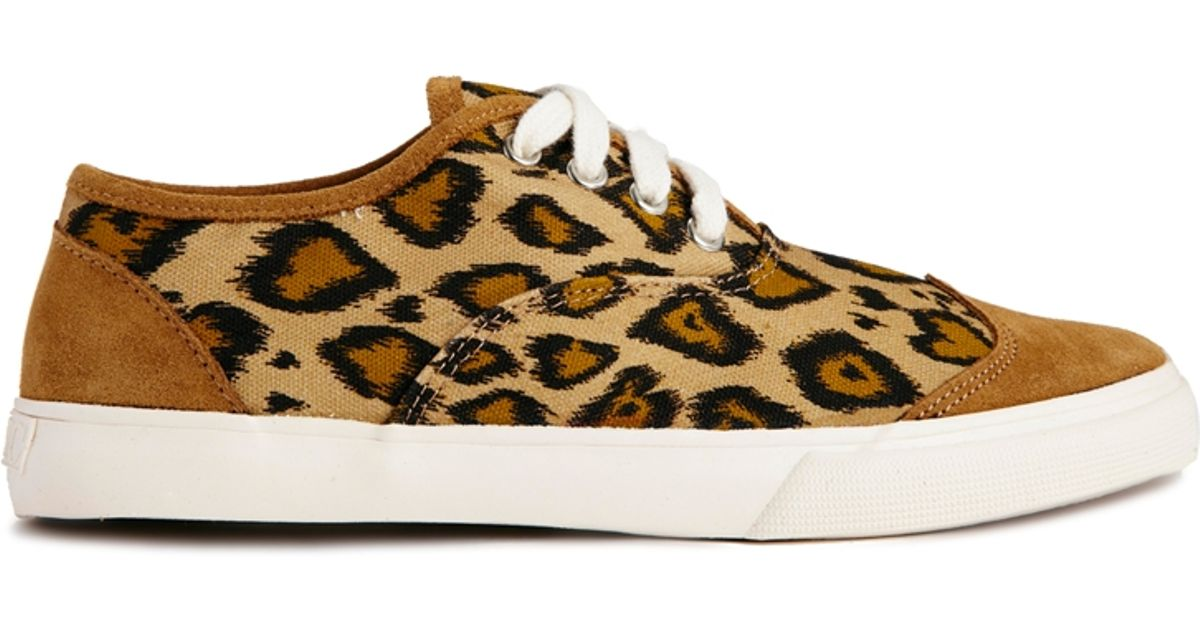 38ac1092639 Lyst - YMC Lace Up Leopard Print Trainers