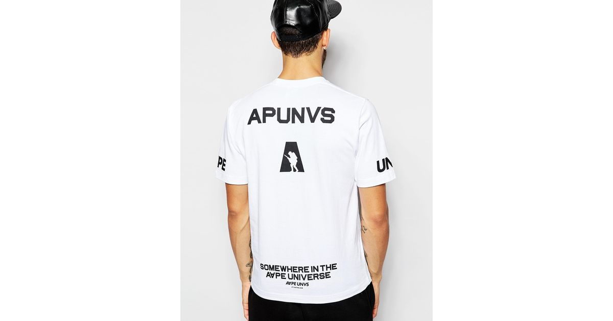 40a39459d Aape By A Bathing Ape T-shirt in White for Men - Lyst