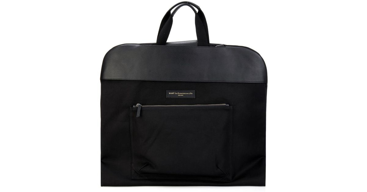 Want les essentiels de la vie Stansted Foldable Canvas Garment Bag ...