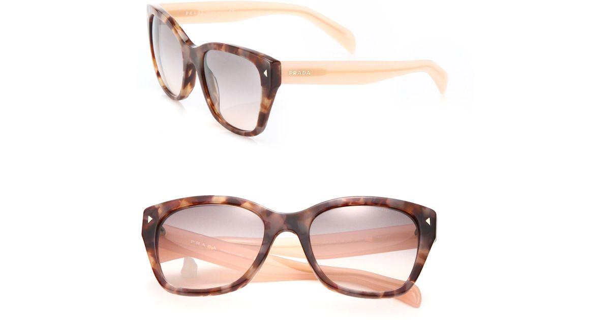 c2c3e3db2d7de ... spain lyst prada 54mm square acetate sunglasses in pink 687aa fd16b