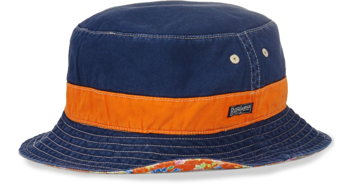 Lyst Ralph Lauren Polo Big And Tall Reversible Bucket Hat In Blue 7b4e3a7dedfc