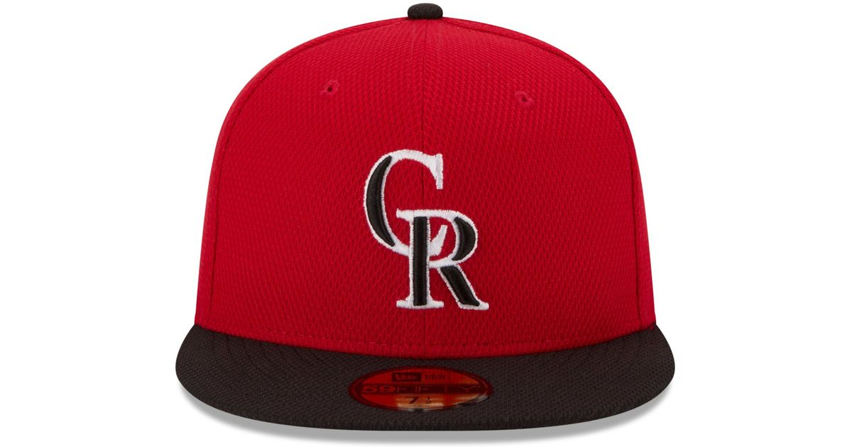 c85207762f54a ... italy lyst ktz colorado rockies 2015 home run derby 59fifty cap in red  for men fa6cf