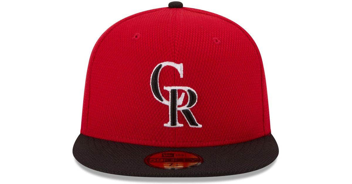 9522f680bdb49 ... italy lyst ktz colorado rockies 2015 home run derby 59fifty cap in red  for men fa6cf