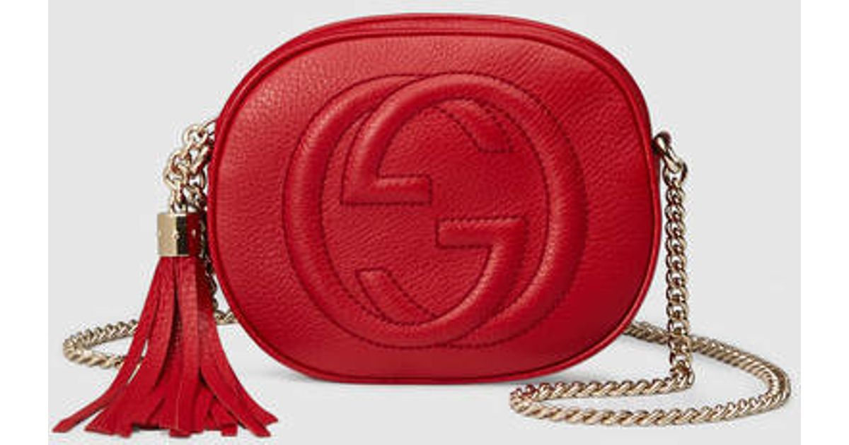 ce0d95bd199a Gucci Soho Leather Mini Chain Bag Red | Stanford Center for ...