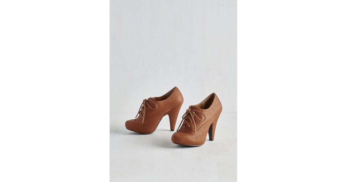 4286060817d78 Lyst - East Lion Corp/Qupid Flying First-Sass Heel In Cognac in Brown