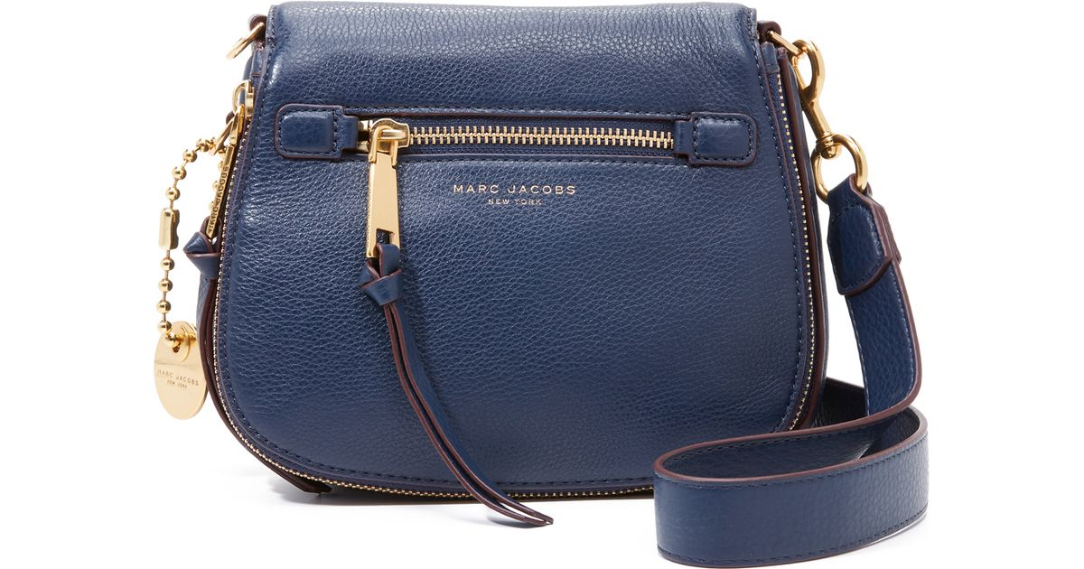 d525acb7a2c Lyst - Marc Jacobs Recruit Small Saddle Bag in Blue