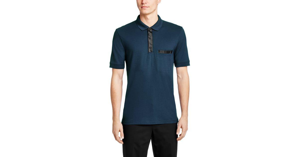 9f74d483b Lyst - Hugo Regular Fit Polo Shirt  Dantom  In Cotton Blend in Blue for Men