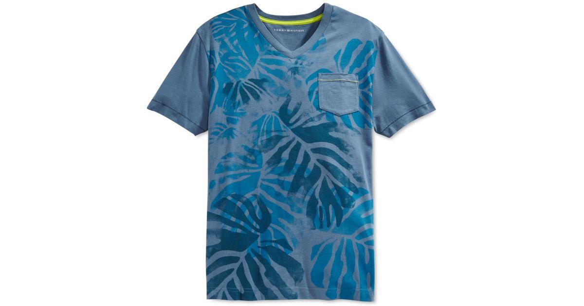 tommy hilfiger beach control v neck t shirt in blue for. Black Bedroom Furniture Sets. Home Design Ideas