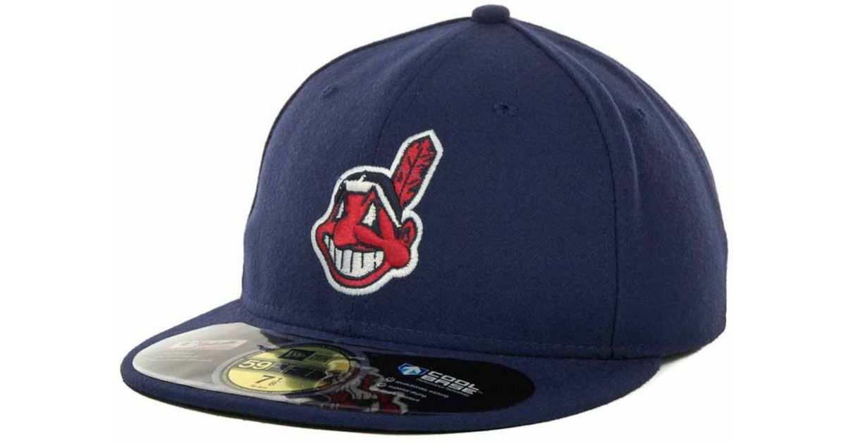 size 40 a39a5 ecab0 Lyst - KTZ Cleveland Indians Authentic Collection 59fifty Hat in Blue for  Men